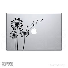 Laptop decals GEOMETRIC DANDELIONS Vinyl surface graphics - Macbook skin - by Decals Murals. $9.00, via Etsy.