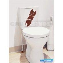 Adesivo de parede decorativos banheiro Missil