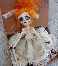 RESERVED for Willow Ugly OOAK Art Doll Charlie by LotusAsylum