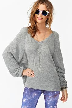 Love oversized sweaters in chilly weather just bundle right up, also With the right leggings or jeans can be perfect or just to wear around the house!