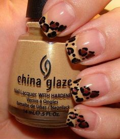 I'm not sure how I feel about the animal print nails but if I were going to do them this would be it.