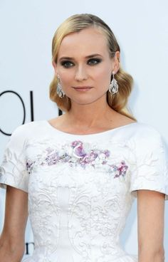 b76ac776a0ac Diane Kruger in Chanel Slick Hairstyles