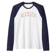Raglan Baseball Tee, Countries, Mexico, Amazon, Tees, Long Sleeve, Sleeves, Mens Tops, T Shirt
