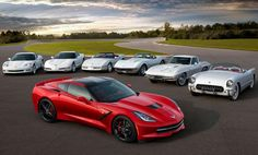 CHEVROLET Corvette Stingray and her family portrait with mother, grandmotheri grand grand mother. - Erdem Deniz - - CHEVROLET Corvette Stingray and her family portrait with mother, grandmotheri grand grand mother. Chevrolet Corvette Stingray, 2015 Corvette, Corvette Summer, Classic Corvette, Chevy Chevrolet, Cool Sports Cars, Sport Cars, Supercars, General Motors