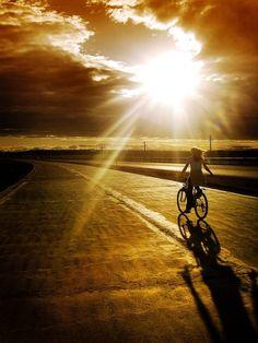 Biking on Sunset