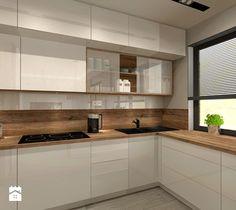 Aranżacja kuchni i salonu w domu jednorodzinnym - Kuchnia, styl nowoczesny - zdjęcie od Atelier Art%Design
