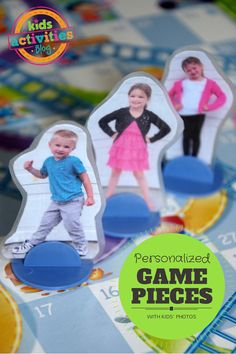 Kids will love these personalized game pieces so they can become the character in their own board games!