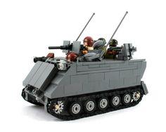 M113 APC / ACAV Lego Ww2 Tanks, Legos, Lego Lego, Lego Machines, Lego Guns, Mega Blocks, Kids Blocks, Lego Army, Cool Lego Creations