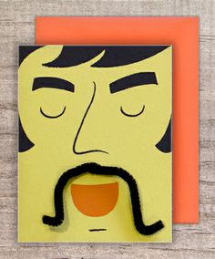 """""""The Wild Card"""" ADJUSTABLE MUSTACHE CARD"""