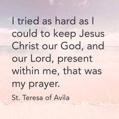 Teresa of Avila ocd. Catholic Quotes, Biblical Quotes, Religious Quotes, St Theresa Of Avila, Catholic Saints, Roman Catholic, Be Inspired Quotes, Seven Sacraments, God Is Amazing