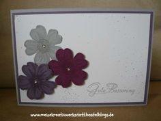 Gute Besserungskarte mit Blumen