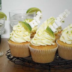 Gin and Tonic Alcohol Infused Cupcakes