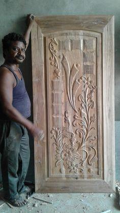 Single Door Design, Wooden Front Door Design, Double Door Design, Wooden Front Doors, Pooja Room Door Design, Ceiling Design Living Room, Door Design Images, Window Design, Tv Unit Interior Design