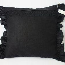 Czarna elegancka poduszka glamour