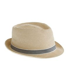 J.Crew - Kids' stripe trilby hat. lol My head's too small for women's hats snd I really want a nice summer hat.