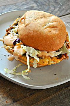 Vegan Buttermilk Fried Mushroom Sandwiches - Rabbit and Wolves