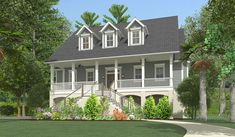 Oh Aubrey, I can see you in this little cottage! Shabby Chic Beach Cottage on Casey Key, Florida Coastal House Plans, 4 Bedroom House Plans, Coastal Cottage, Coastal Homes, Architectural Design House Plans, Architecture Design, Elevated House Plans, Craftsman Style Kitchens, Raised House