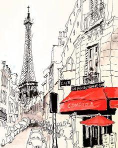 Paris street sketch