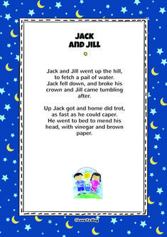 """Download this popular kids video song """"Jack And Jill"""" With FREE lyrics & fun activities. Free Lyrics, Baby Lyrics, Great Song Lyrics, Baby Songs, Music Lyrics, Free Nursery Rhymes, Nursery Rhymes Lyrics, Nursery Songs, Kids Video Songs"""