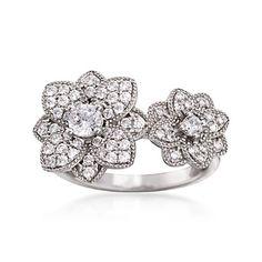 Double Flower Ring Flower Rings, Floral Flowers, Sterling Silver, Jewelry, Jewerly, Jewlery, Schmuck, Jewels, Jewelery