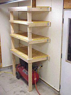 2x4 & plywood shelves