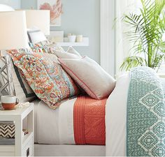 Color Trend - Turquoise & Coral | Pottery Barn
