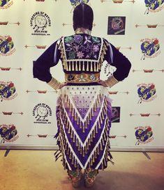 Native American Regalia, Native American Clothing, Native American Artwork, Native American Beadwork, Native American Fashion, Native Beading Patterns, Beadwork Designs, Jingle Dress Dancer, Horse Ribbons