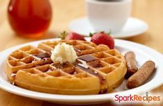 Whole Wheat Pecan Waffles or Pancakes via @SparkPeople