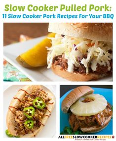 Slow Cooker Pulled Pork: 11 Slow Cooker Pork Recipes For Your BBQ