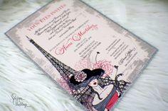 Hats, Gloves, Paris - Bridal Shower Invitations