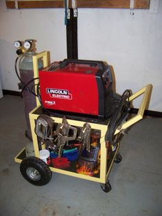 welding cart completed