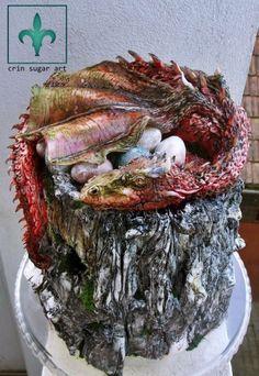 Gorgeous Cakes, Amazing Cakes, Dragon Wedding Cake, Fantasy Cake, Dragon Cakes, Sculpted Cakes, Animal Cakes, Fall Cakes, Crazy Cakes