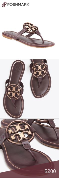 e4795b6373bc3 Tory Burch Metal Miller Sandal Gorgeous Tory Burch Leather Miller Sandals!  Brand new