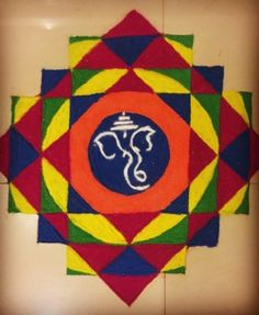 Explore latest easy rangoli design image ideas collection for Diwali. Here are amazing simple rangoli designs to decorate your home this festive season. Ganesha Rangoli, Easy Rangoli Designs Diwali, Rangoli Designs Latest, Simple Rangoli Designs Images, Rangoli Borders, Free Hand Rangoli Design, Small Rangoli Design, Rangoli Patterns, Colorful Rangoli Designs