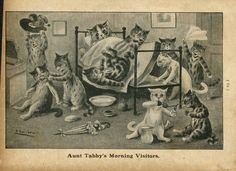 LOUIS WAIN CATS AUNT TABBY'S MORNING VISITORS