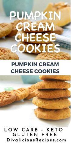 Keto Chocolate Chip Cookies, Keto Cookies, Gluten Free Cookies, Cheese Cookies, Low Carb Keto, Low Carb Recipes, Pumpkin Recipes Low Carb, Keto Fat, Easy Cheesecake Recipes