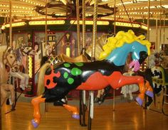 Paint the Horse at A Carousel for Missoula