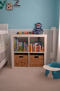 A Woodland Haven Library Wall Extra Storage And Nursery - Wall bookshelves for nursery