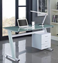 Glass Computer Work Desk