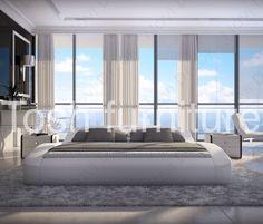Modern Grisognio Platform Bed by Tosh Furniture   $1,435.00