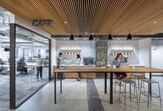 Instacart Office by Design Blitz - Office Snapshots. #meeting #collaborative #cafe