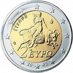 2 Euro Coin From 2002 Greece World Coins Merovingian Collecting