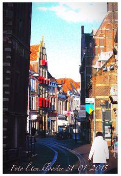 Oudestraat in kampen Holland