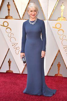 9a50e1287f359 Helen Mirren Oscar Dresses, Oscar Gowns, Evening Dresses, Navy Dress, Red  Carpet