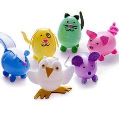 Make Fun Animals From Plastic Eggs