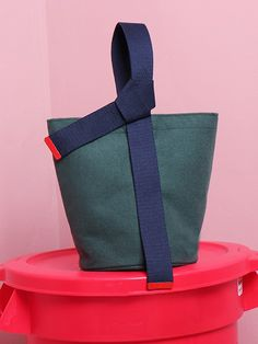 knot pot bag green