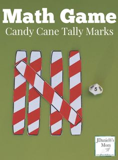 Math Game- Candy Cane Tally Marks This is a fun way to build and create numbers. Kids will love their holiday look.