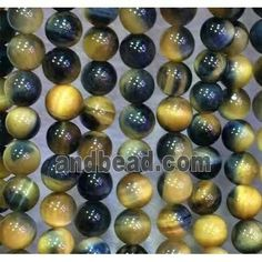 "Natural 8mm Round Yellow Mexican Cat/'s Eye Gemstone Loose Beads 14/"" AAA"