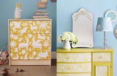 muebles-con-papel-pintado-amarillo.jpg (570×375)