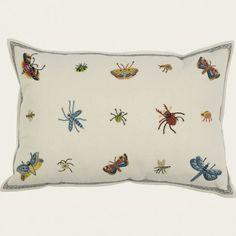 botanic & insect garden pillow by Chelsea Textiles